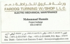 ELECTRICAL REPAIR SERVICES AND MAINTENANCE from FAROOQ TURNING WORK SHOP LLC